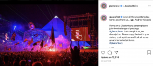 Glastonbury Instagram Post